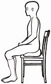 Meditation sitting on a chair